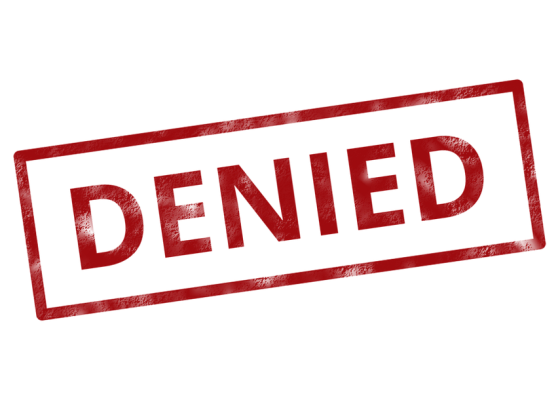 A picture of a Denied stamp