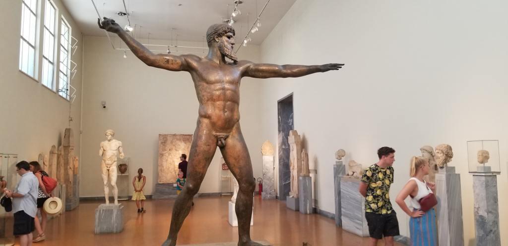 A Greek god posing