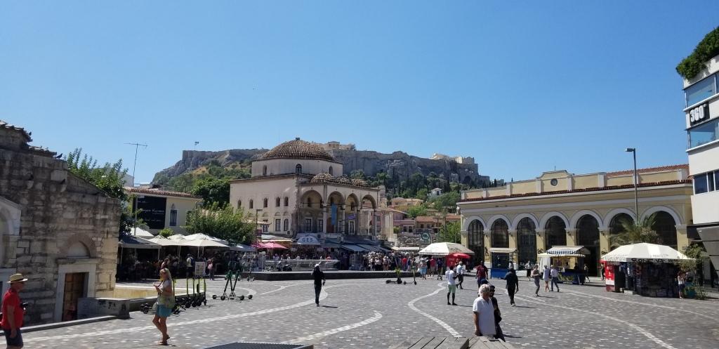 A photo of Monastiraki Square. A robbery happened here.