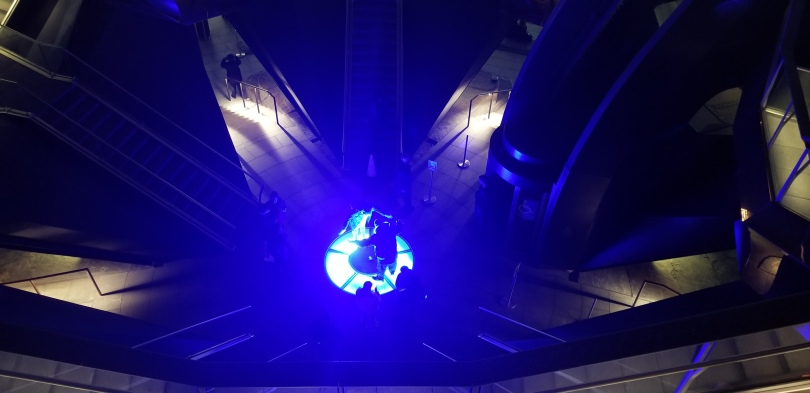 A picture of the blue orb in the middle of the Vessel
