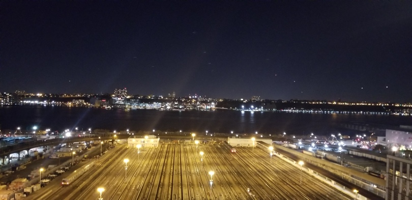 Looking out into the Hudson from Vessel at Hudson Yards in NYC