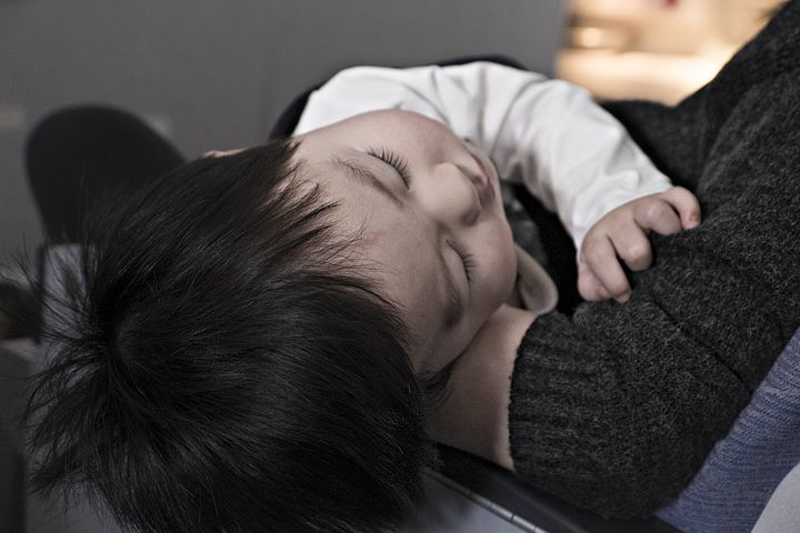 A child that is sleeping